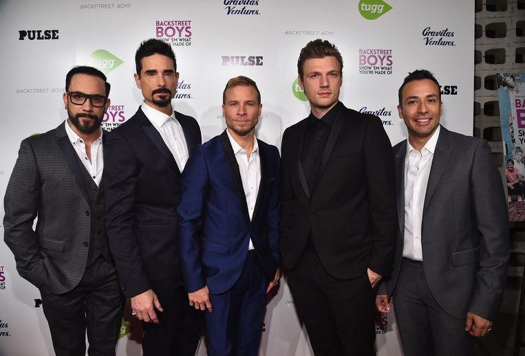 De Backstreet Boys. Het openluchtconcert werd gehouden naast een casino in de stad Thackerville.