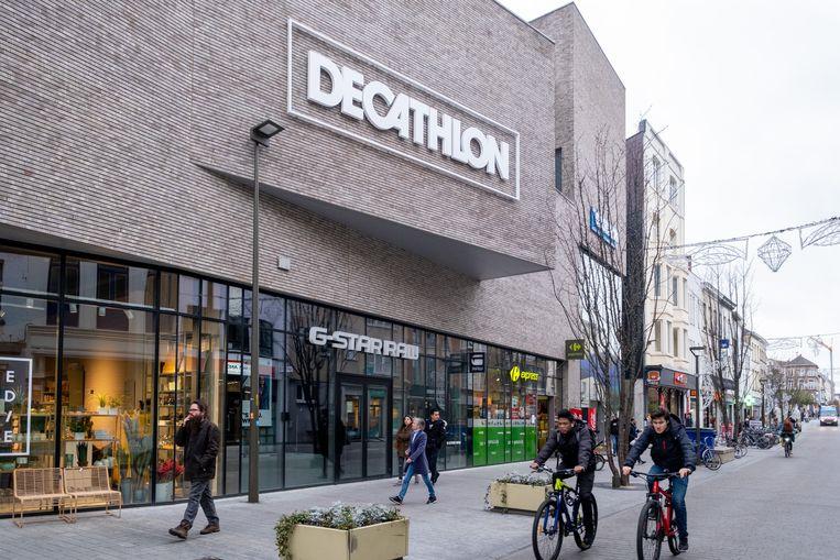 De Decathlon-vestiging in de Bruul in Mechelen.