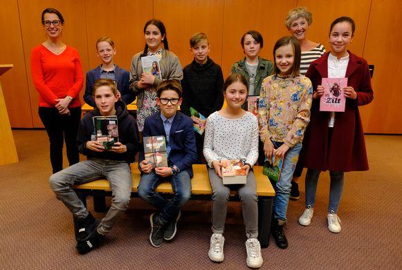 De winnaars van de Junior Journalistenwedstrijd in Rumst