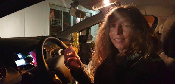 Bieke ontving een BOB-sleutel van de politie na een negatief resultaat.