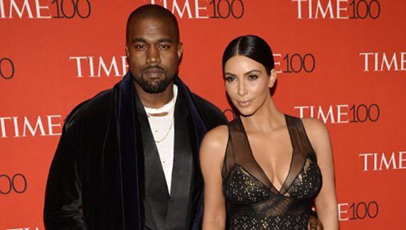 Kanye West en Kim Kardashian