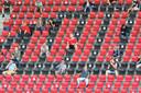 De tribunes zijn grotendeels leeg in coronatijd.  Dat wreekt zich op de financiële cijfers van GA Eagles.