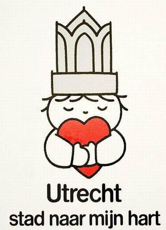 Het oorspronkelijke affiche van Dick Bruna: Utrecht stad naar mijn hart