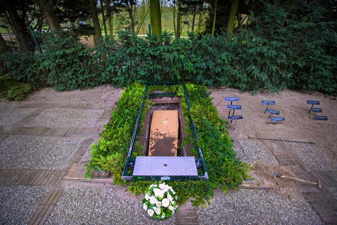 De begrafenis van de romp op Sint Barbara in Amsterdam