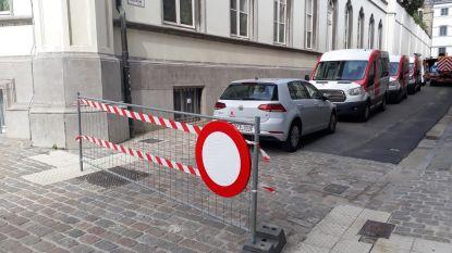 """Arbeiders Sint-Baafs nemen hele straat als parkeerplaats: """"Niet de afspraak"""""""
