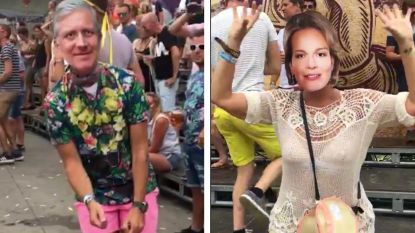 VIDEO. Zijn dat koning Filip en Mathilde op de weide van Tomorrowland?
