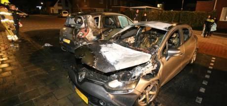 Twee auto's verwoest door brand in Zaltbommel