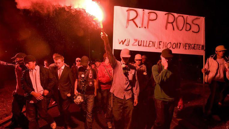 De 19-jarige Robby kwam om het leven bij het dancefeest in Hoek van Holland. © ANP Beeld