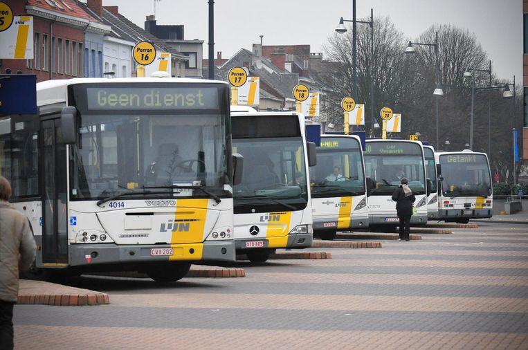 Wachthalte van de bussen van vervoersmaatschappij De Lijn