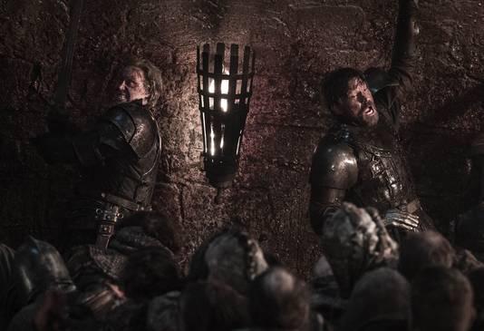Brienne et Jaime au combat, dans l'épisode 3