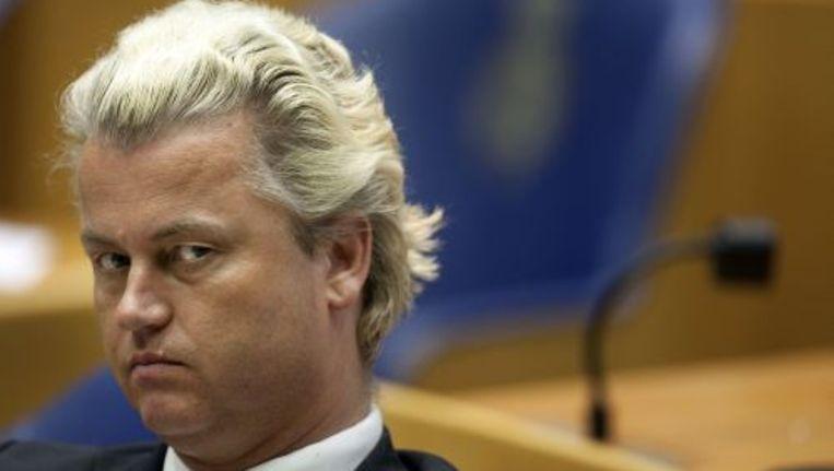 Geert Wilders wil geen bossen bloemen en brieven van moslimstudenten aannemen. Foto ANP Beeld
