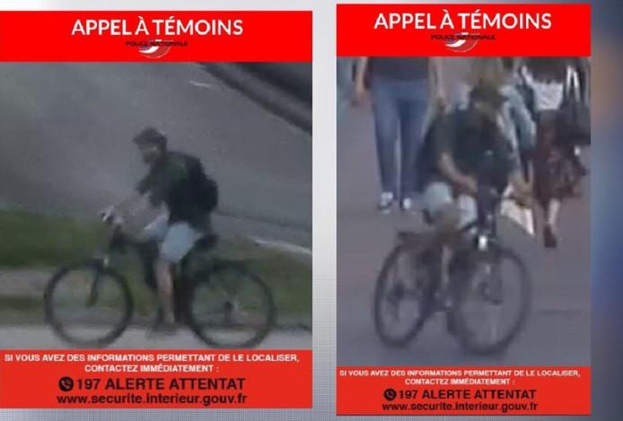 Op de nieuwe bewakingsbeelden is het gezicht van de verdachte voor het eerst zichtbaar. Hij reed op een zwarte fiets, droeg een zwart petje, donkergroene trui met opgerolde mouwen, een lichte Bermuda en donkere rugzak.
