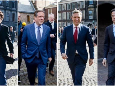 VVD, D66, CDA én GroenLinks gaan met elkaar door
