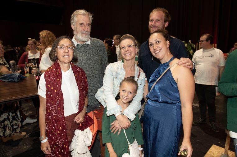 De familie Tavernier kwam - hoe kan het ook anders - supporteren voor Ianthe.