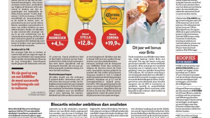 AB InBev verkoopt weer meer bier