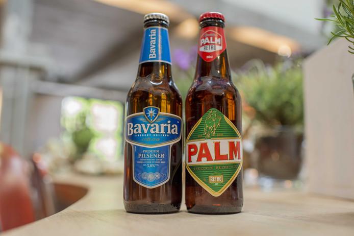 Flesjes Bavaria en Palm