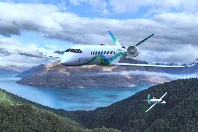 Elektrisch van Lelystad naar Londen of Wenen vliegen: het zou over vijf jaar moeten kunnen, menen Zunum Aero en Boeing. Beeld Zunum Aero