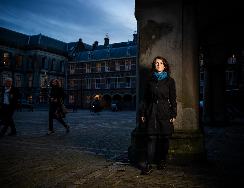 Esther Ouwehand op het Binnenhof in Den Haag. Beeld Jiri Büller