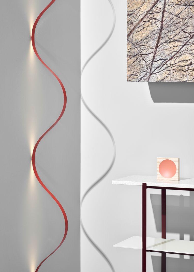 Lamp van de Nederlandse ontwerper David Derksen.  Beeld Pim Top