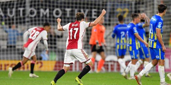Gemakzuchtig Ajax ontsnapt in Waalwijk