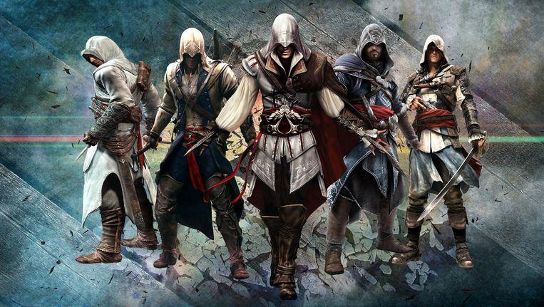 Een aantal van de karakters uit Assassin's Creed. Beeld