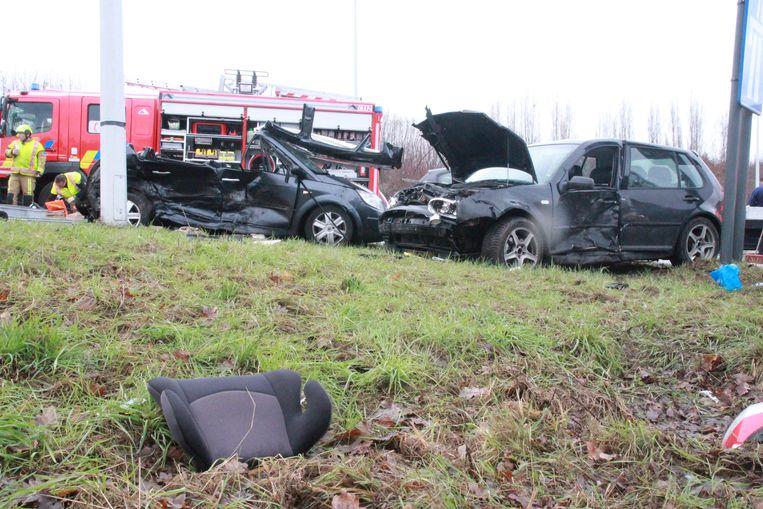 De Poolse chauffeur richtte een ware ravage aan op de R8.