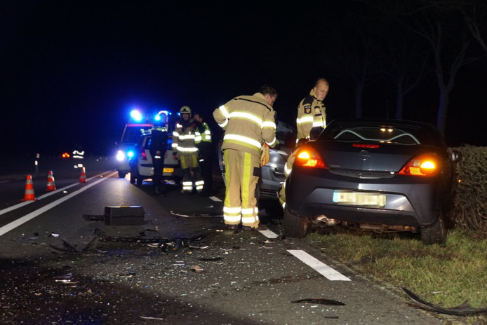 Het ongeluk vond plaats op de Hasselterdijk tussen Hasselt en Zwartsluis.