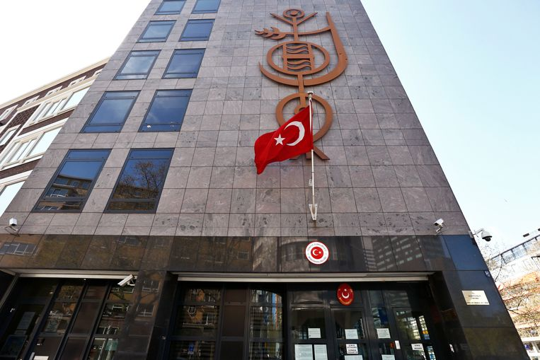 Het Turkse consulaat in Rotterdam.