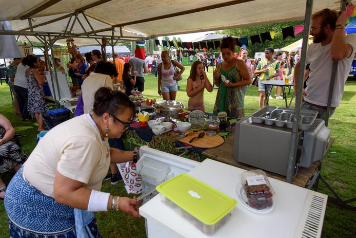 EINDHOVEN - Wervelend Woensel in het Henri Dunantpark, voor het eerst in een soort festivalopzet met line-up, veel eetgelegenheden en activiteiten voor kinderen