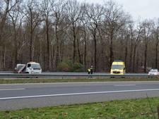 Gewonde bij ongeluk op A58 bij Bergen op Zoom