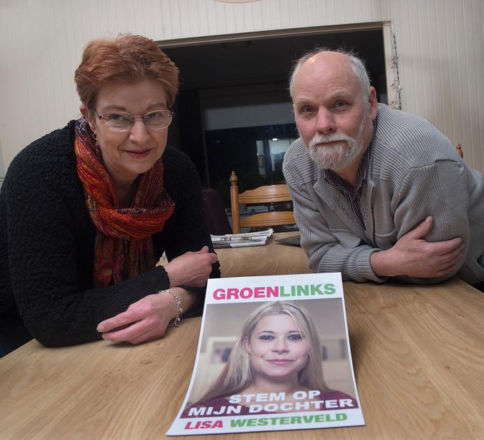 Jan en Ans Westerveld, ouders van Lisa.