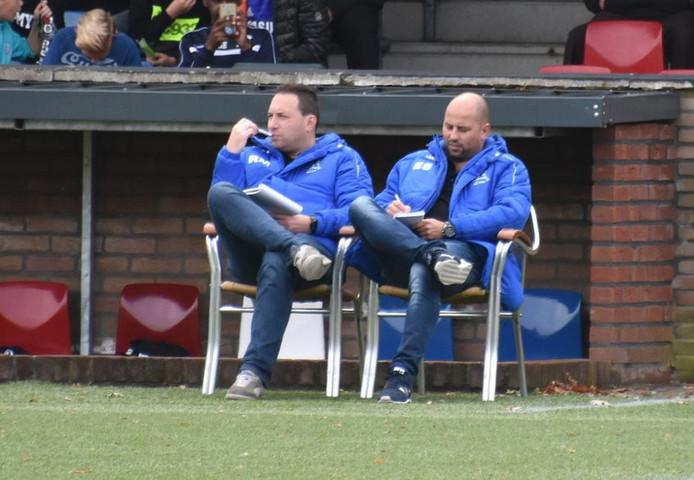 De technische staf van Marvilde: hoofdtrainer Edwin Slagboom (rechts) en assistent Ralf Manders.