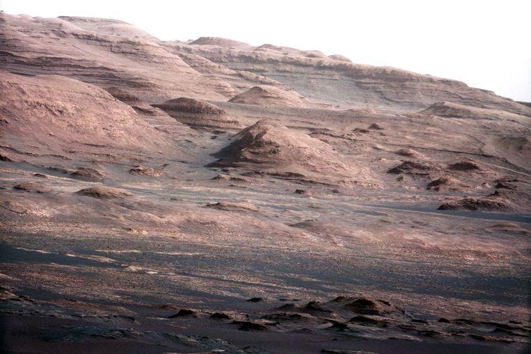 Het Marsoppervlak, gefotograffeerd door Curiosity. Beeld AFP