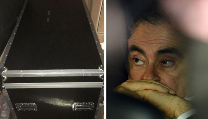 Carlos Ghosn aurait quitté le Japon pour rejoindre le Liban dans ce caisson servant à transporter du matériel de musique