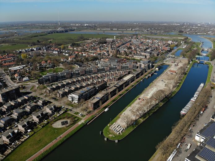 Sluiseiland in Vianen ligt klaar voor de bouw van 184 woningen, dicht tegen het centrum aan.