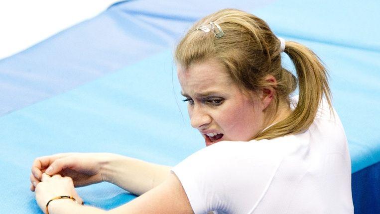 Yara van Kerkhof na de halve finale van de 1500 meter in de Iceberg Skating Palace waar ze werd uitgeschakeld. Beeld anp