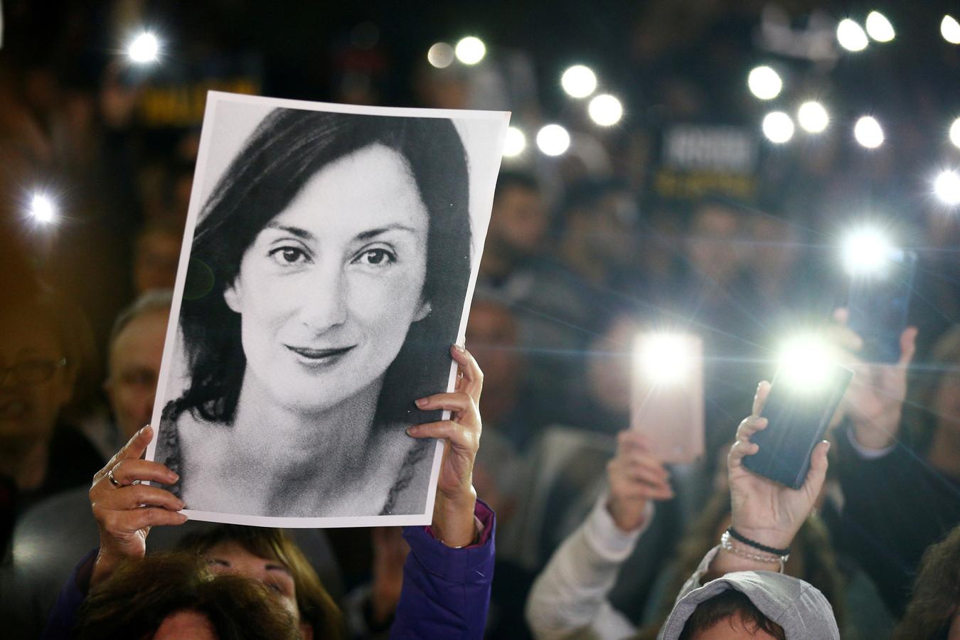 Boze Maltezers eisten woensdag het ontslag van premier Joseph Muscat na de arrestatie van Yorgen Fenech.