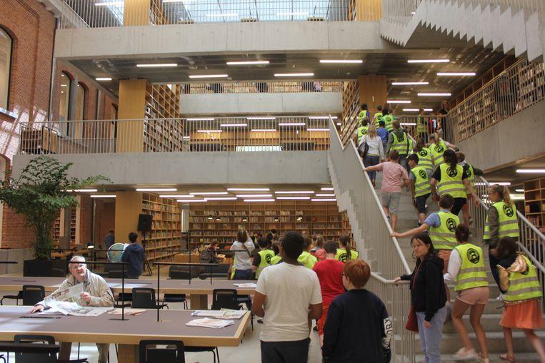 Het atrium in stadsbibliotheek Utopia, hét paradepaardje van het voorbije jaar.