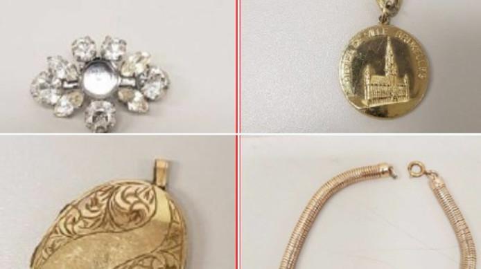 Een deel van de gevonden juwelen.