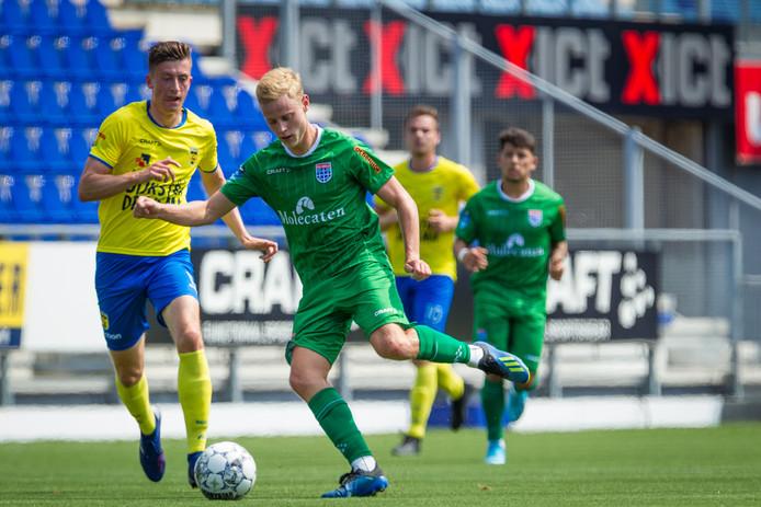 Rick Dekker viel vrijdagmiddag tegen SC Cambuur goed in bij PEC Zwolle.