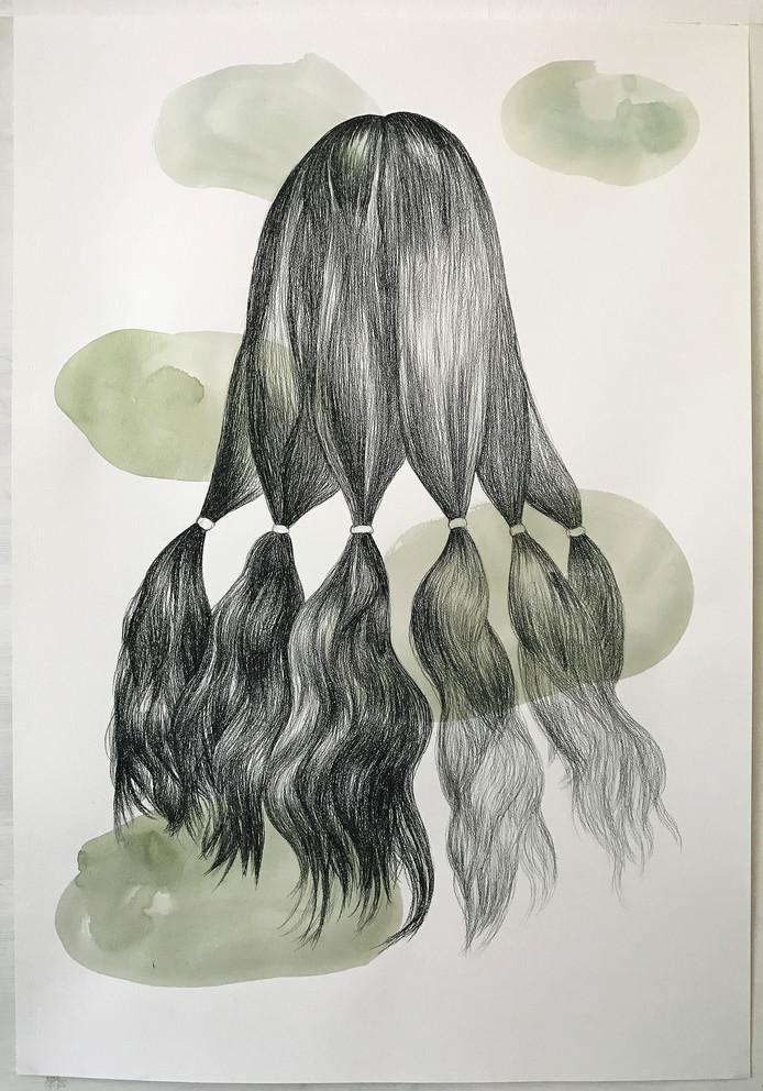 Een werk van Danielle Lemaire uit 2018 dat is te zien in de tentoonstelling Raketstart in Stedelijk Museum Breda.