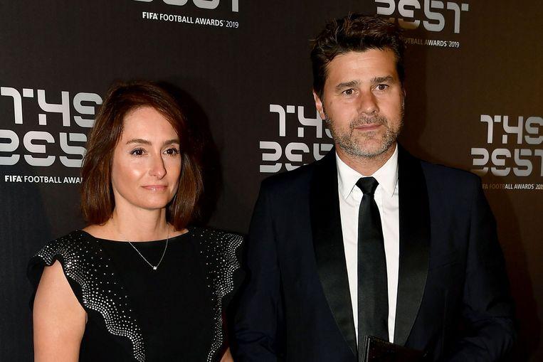 Mauricio Pochettino en vrouw Karina