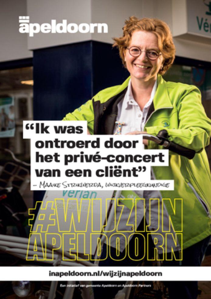 Beeld van Maaike Strikwerda voor de campagne #wijzijnapeldoorn