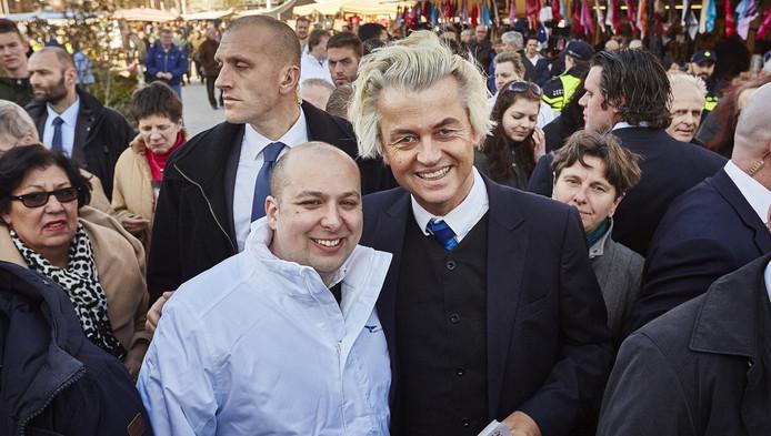 Jeffrey Rijken en Geert Wilders.