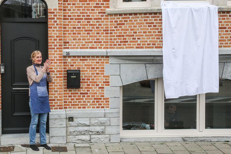 20200320 Dendermonde Foto Geert De Rycke Dank u wel   Coronavirus - Witte lakens - Applaus - Witte handdoeken - Verplegend personeel - Dendermonde