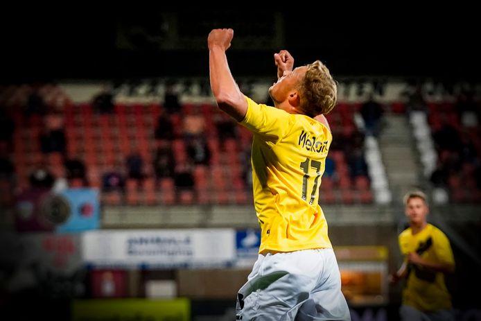 Sydney van Hooijdonk of NAC Breda celebrating 0-2 during Helmond Sport - NAC Breda NETHERLANDS ONLY COPYRIGHT SOCCRATES/BSR