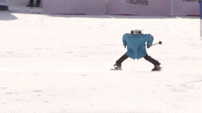 Ook in Zuid-Korea: skiwedstrijd voor robots, met wisselend succes