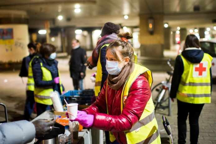 La Croix-Rouge ouvre un nouveau centre d'accueil à Liège, sur le boulevard de la Sauvenière.