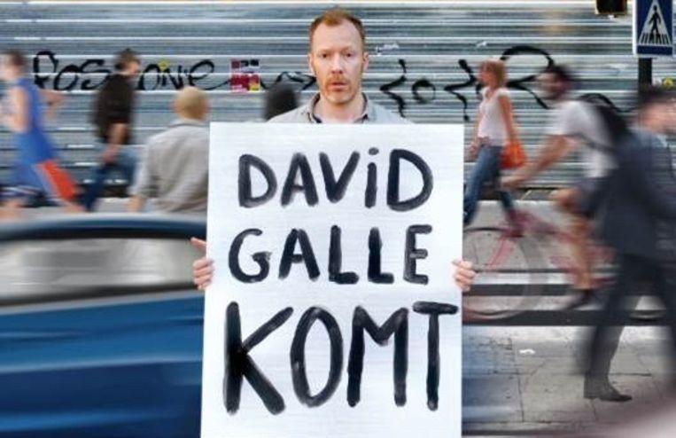 David Galle komt naar het Arjaantheater.