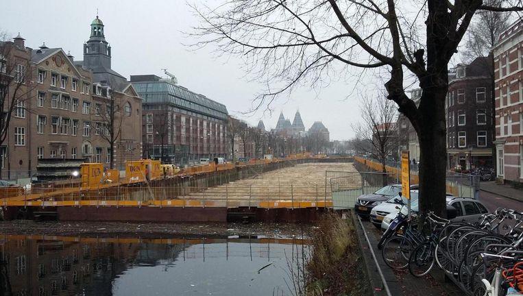 De Albert Cuypgarage in aanbouw Beeld Marc Kruyswijk